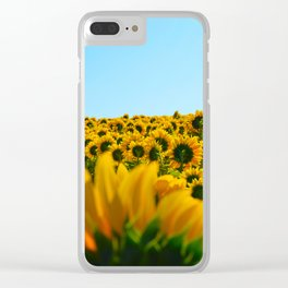 Do as the sunflowers do Clear iPhone Case