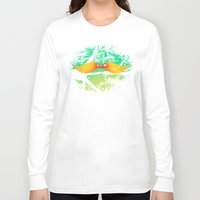 mustache Long Sleeve T-shirts featuring mustache by sustici