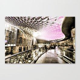 Futuristic London Art Canvas Print