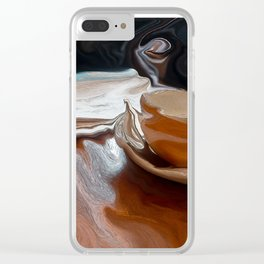 Coffee Shop Newspaper Clear iPhone Case