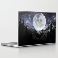 starry night Laptop & iPad Skins featuring Starry night by emegi
