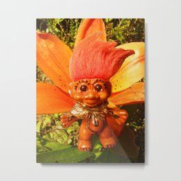 Orange Troll Metal Print
