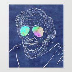 Albert wears his sunglasses at night Canvas Print