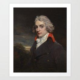 157L17034_9H8NLJohn Hoppner, R.A. LONDON 1758 - 1810 PORTRAIT OF SIR JOHN OSBORN, BT (1772–1848), OF Art Print