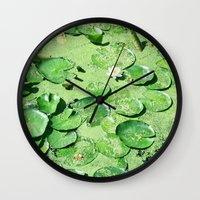 monet Wall Clocks featuring Almost Monet by BRITADESIGNS