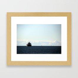 leaving port Framed Art Print