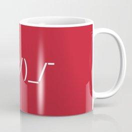 ¯\_(ツ)_/¯ Shrug - Red Coffee Mug