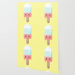 Kawaii melting popsicle Wallpaper