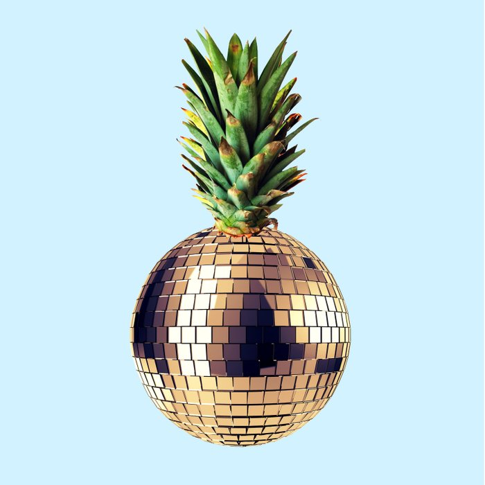 Ananas party (pineapple) blue version Duvet Cover