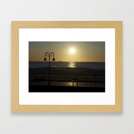 belmar sunrise  Framed Art Print