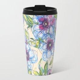 Big Blue Poppies Travel Mug