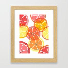 Sumemr Citruses Framed Art Print