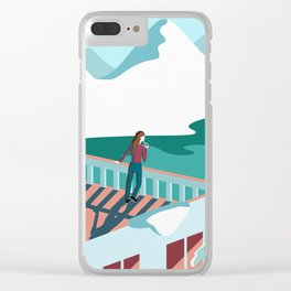 Magnificent Loneliness Clear iPhone Case