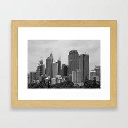 Retro Skyline Framed Art Print