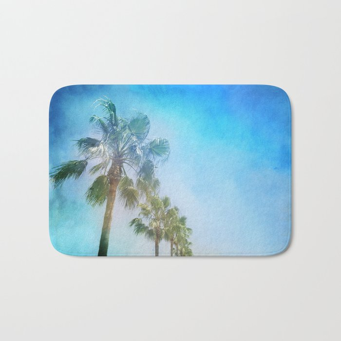 """""""Palms. Beach"""" Bath Mat"""