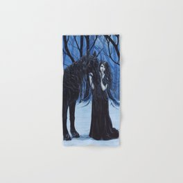 Midnight Travelers Gothic Fairy and Unicorn Hand & Bath Towel