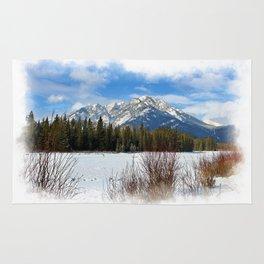 Scenic Cascade Mountain - Banff Alberta Rug