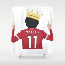 Mo Salah Egyptian King Liverpool Shower Curtain