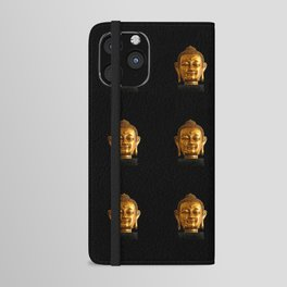 Budhha Golden Head by Lika Ramati iPhone Wallet Case