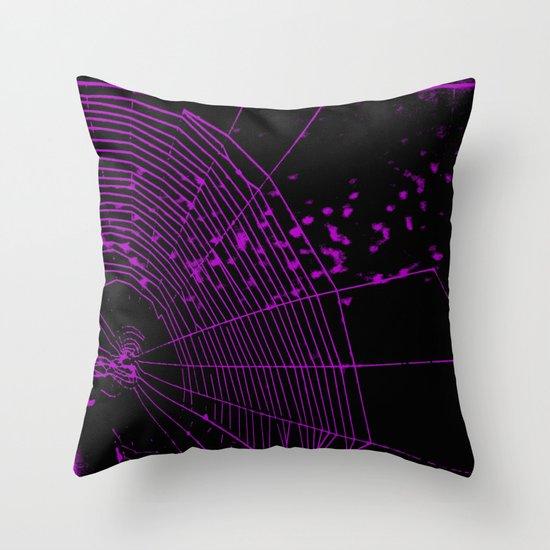 Emo spider Throw Pillow