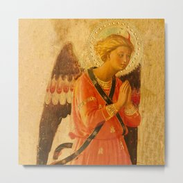 """Fra Angelico (Guido di Pietro) """"Music-making angel, Detail from the Linaioli Tabernacle"""" 3. Metal Print"""