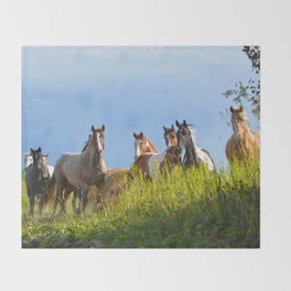 The Herd Greets Us Throw Blanket