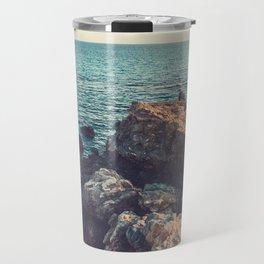 cliffs at sea in vintage colors Travel Mug