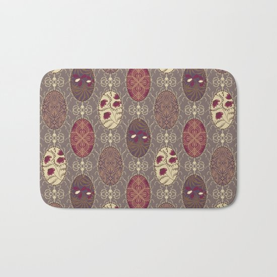 Patchwork seamless floral abstract pattern texture background Bath Mat