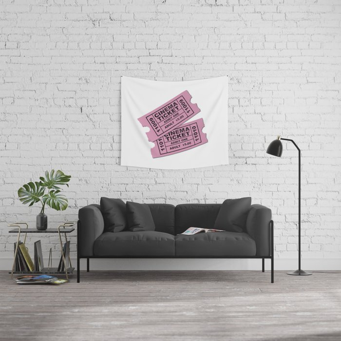 Cinema Tickets Wall Tapestry