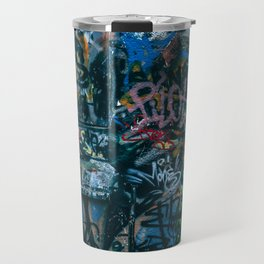 A graffiti wall in  Szeged, Hungary Travel Mug
