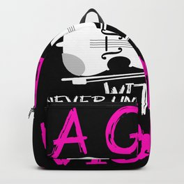 a girl with a violin Backpack