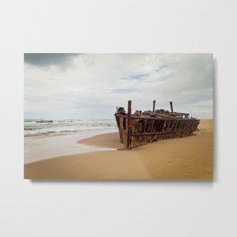 SS Maheno Shipwreck Metal Print