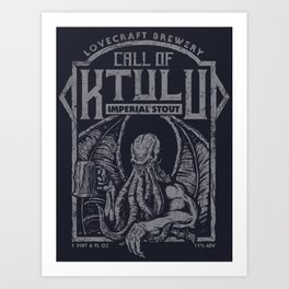 Call of Ktulu Art Print