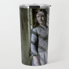 Girl by the window Travel Mug
