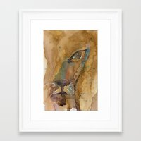 mad hatter Framed Art Prints featuring Mad Hatter by Bren Sparling