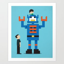 Building Block Bot Art Print