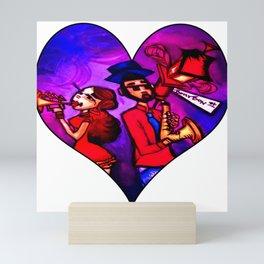 Bourbon St. Music Duo Mini Art Print