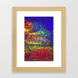 Speckled Rainbow Framed Art Print