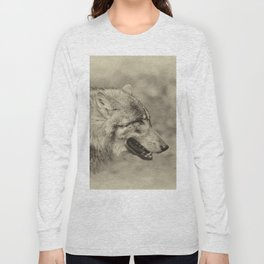 lonesome wolf Long Sleeve T-shirt