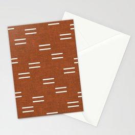 double dash - burnt orange Stationery Cards