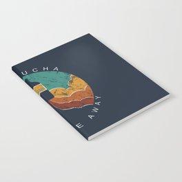 "KOMBUCHA ""Take Me Away"" Rocket // Mushroom Tea Graphic Design Scoby Health Drink Bubble Scooby Notebook"