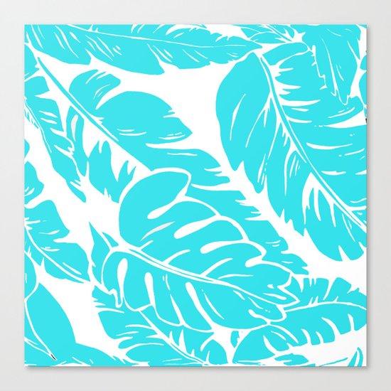 PALM LEAF BLUE Canvas Print