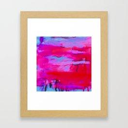 Pink Storm Framed Art Print