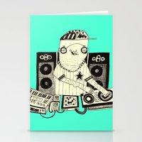 dj Stationery Cards featuring DJ  by Mr. JJ