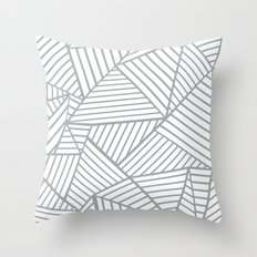 Abstraction Lines Zoom Grey Throw Pillow