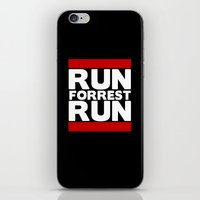 forrest gump iPhone & iPod Skins featuring Forrest Gump Run by Spyck