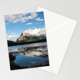 Reflections on the water; Vermillion Lakes, Banff Alberta Canada Stationery Cards