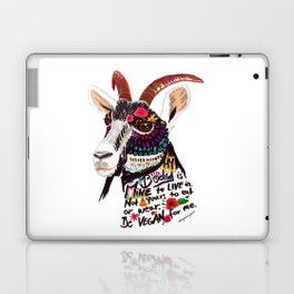 Go vegan goat - my body is mine to live in Laptop & iPad Skin