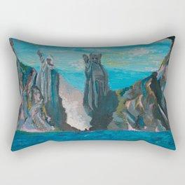 Statues of Argonath Rectangular Pillow