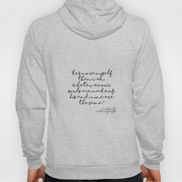 More myself than I am - Bronte quote Hoody